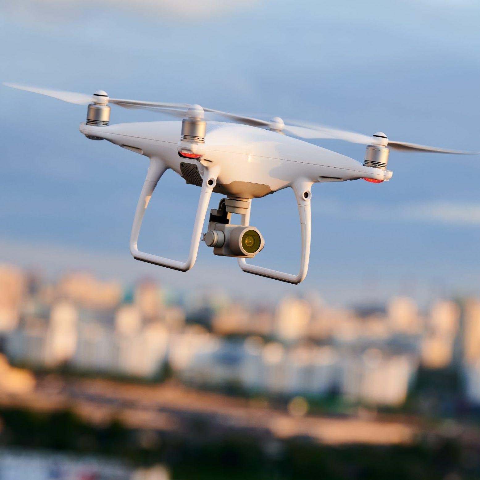 Drohne mit Immokonzept